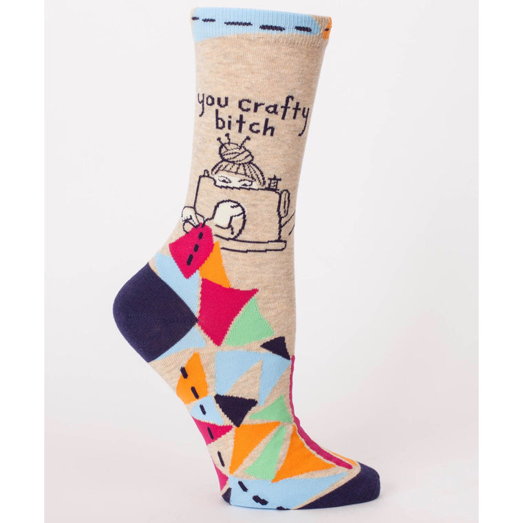 You Crafty Bitch - Crew Socks