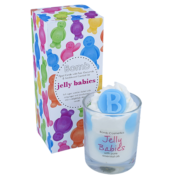 Jelly Babies Piped Candle