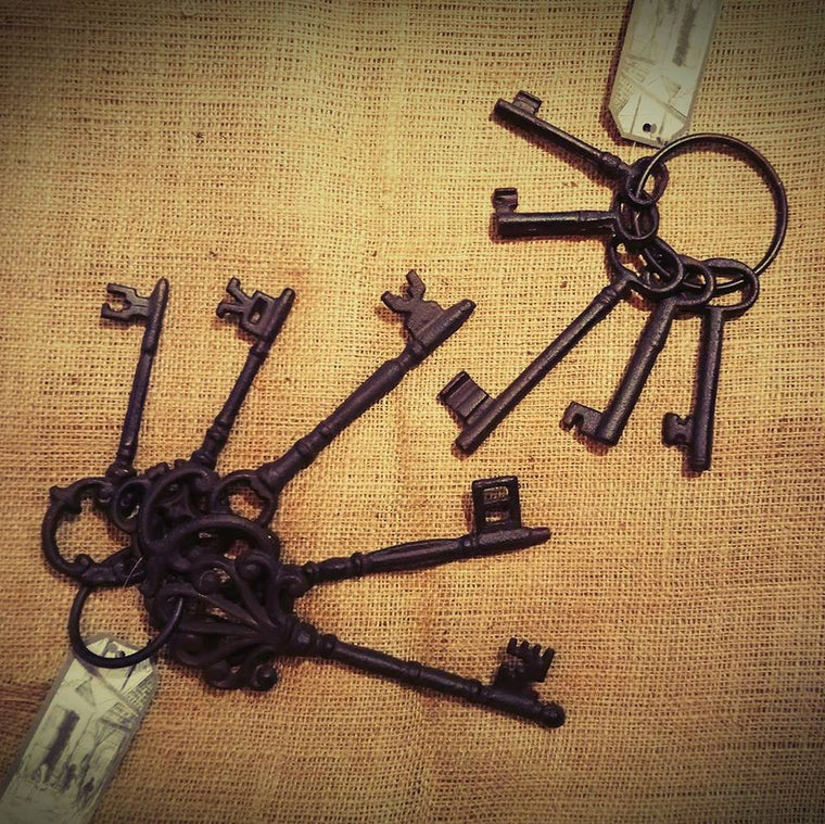 Cast Iron Keys - 2 Sizes