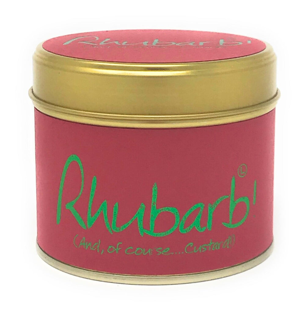 Lily-Flame Scented Tin Candle - Rhubarb