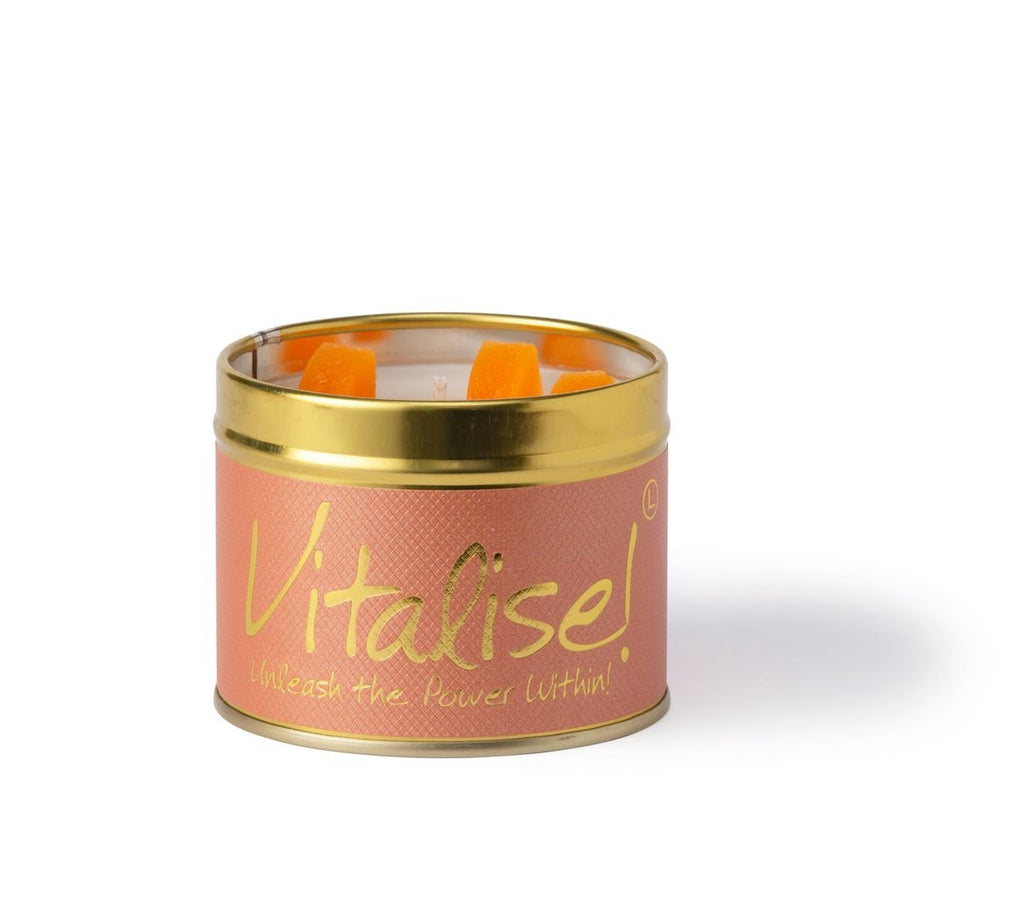 Lily-Flame Scented Tin Candle - Vitalise