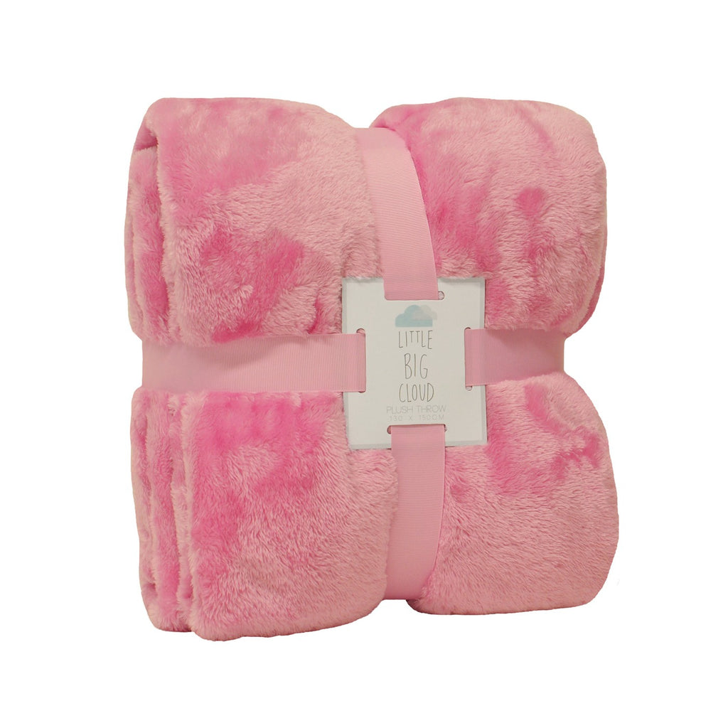 Little Big Cloud Plush Throw - Pink