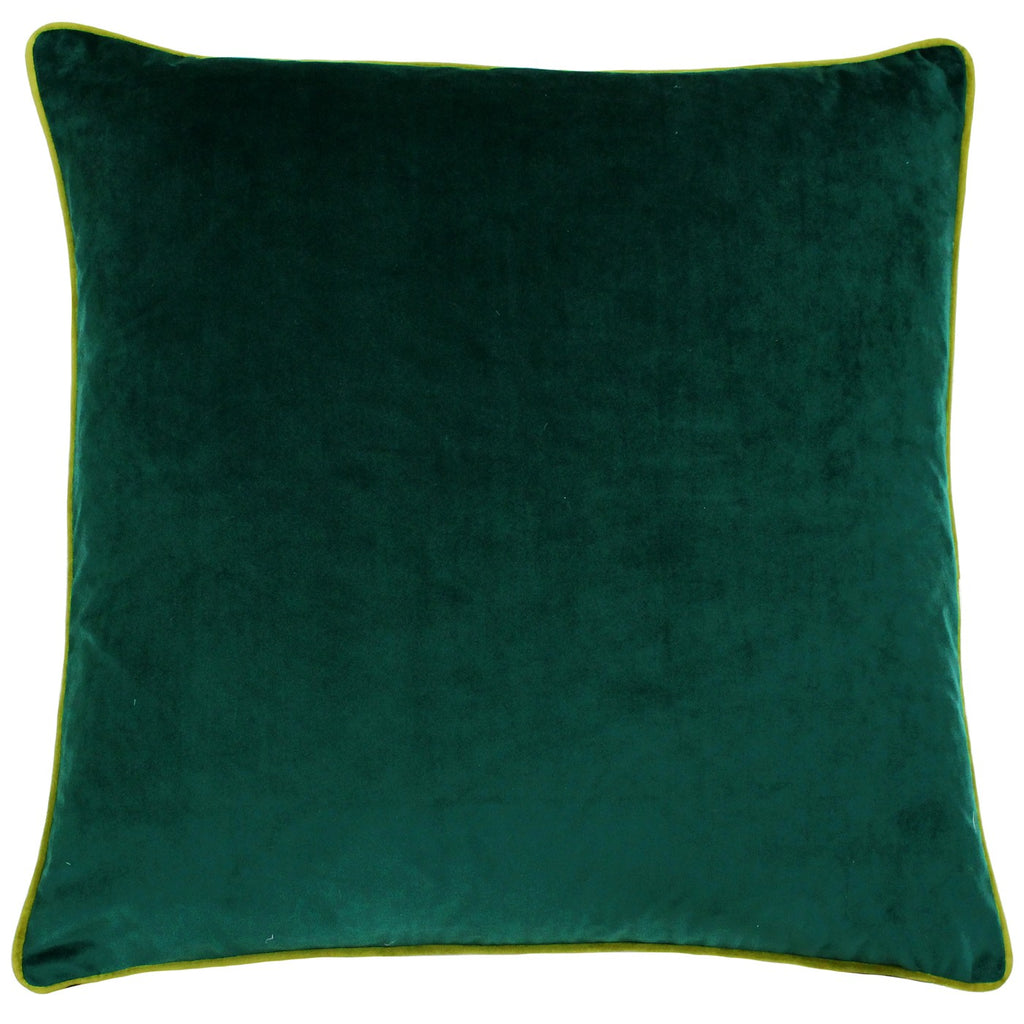 Meridian Velvet Cushion - Emerald & Moss