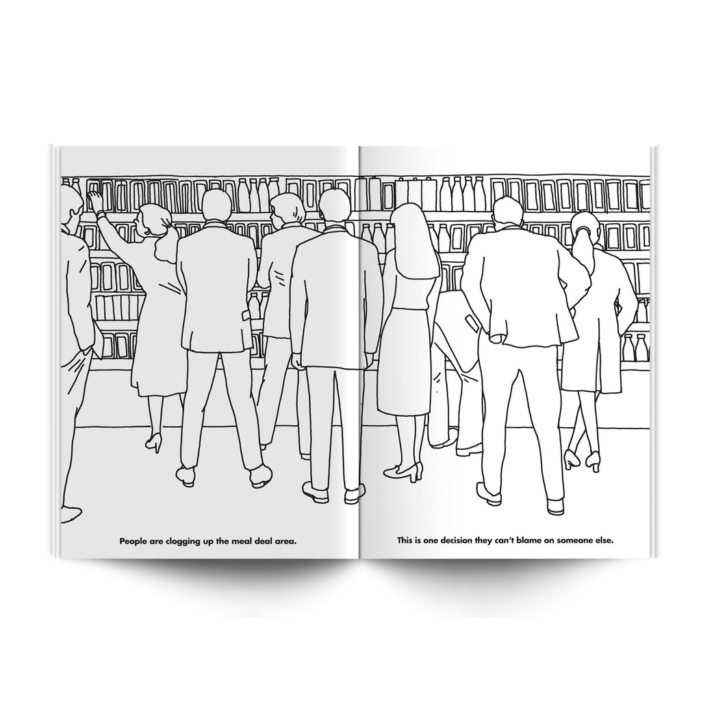 Modern Toss Colouring Book - The Working Day