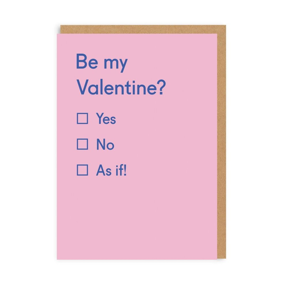 Be My Valentine? Card
