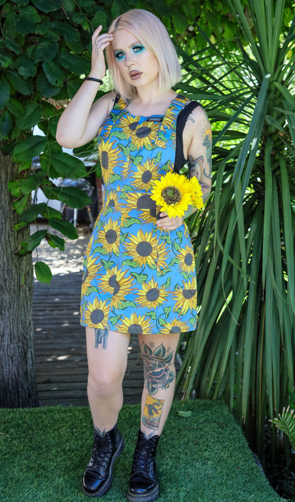 Sunflower Twill Pinafore Dress