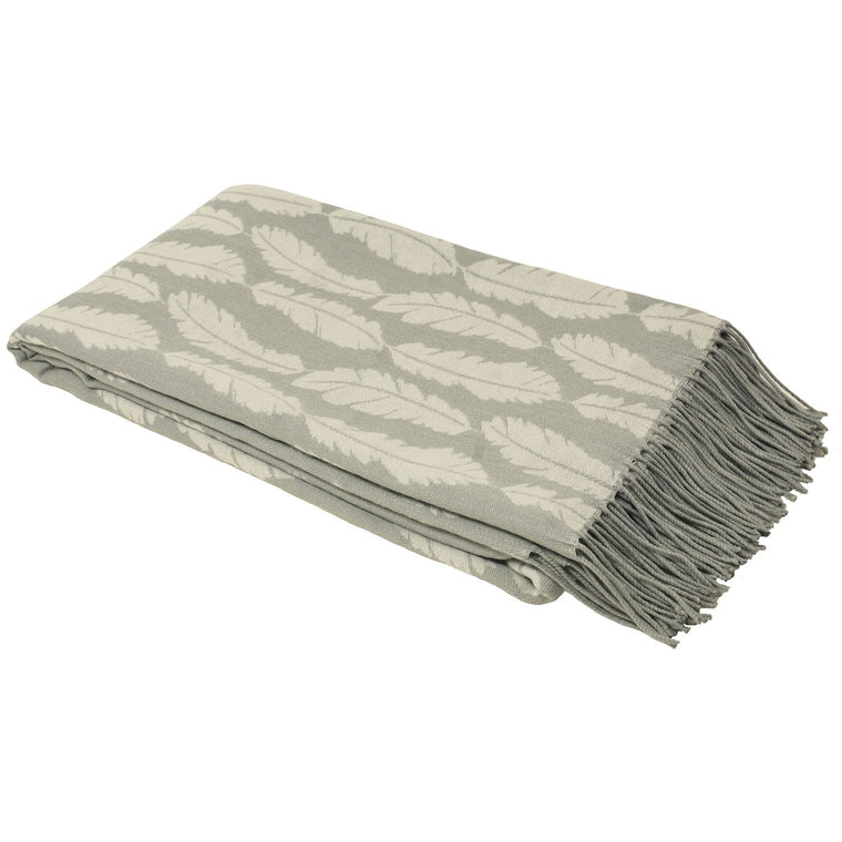 Plume Feather Throw - Silver