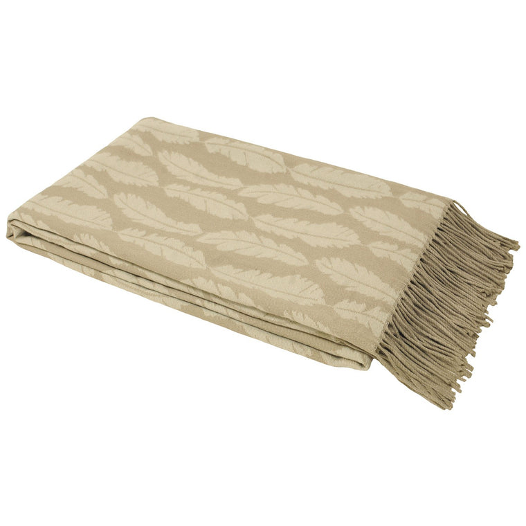 Plume Feather Throw - Taupe