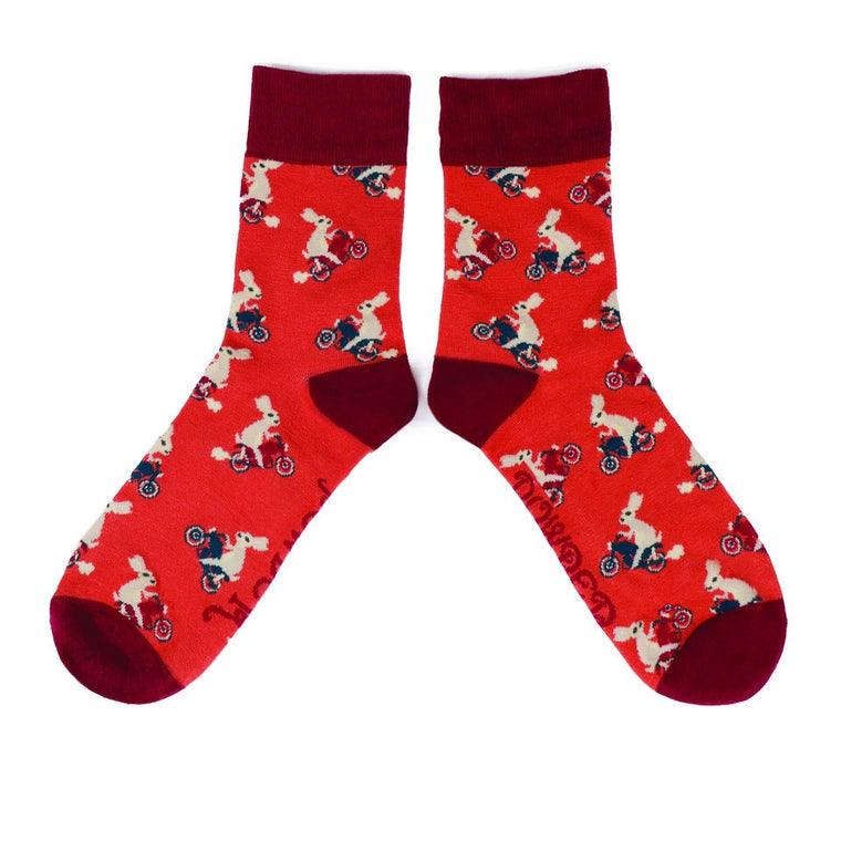Powder Mens Ankle Socks - Racing Rabbits