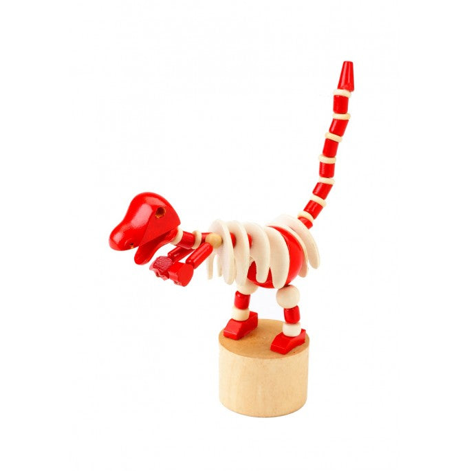 Red Dinosaur Push Up Toy