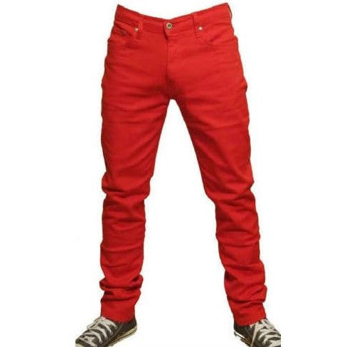 Men's Relco Skinny Jeans Red
