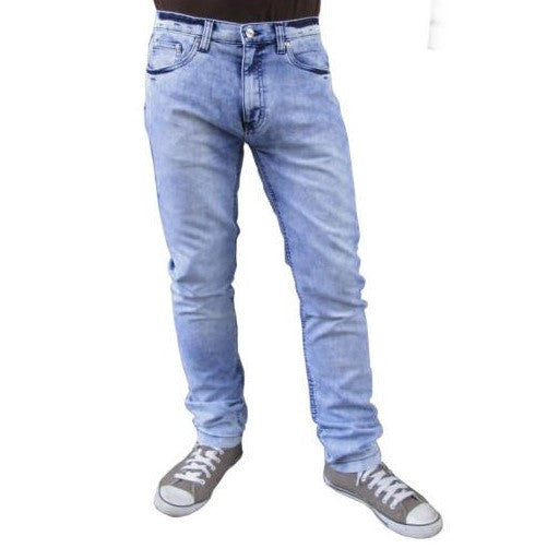 Men's Relco Skinny Jeans Marble Acid Blue