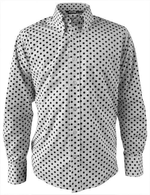 Mens Polka Dot Tailored Shirt - 3 Colours