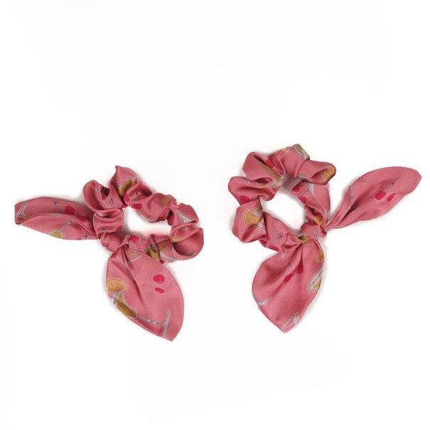 Pack of 2 Scrunchies - Cocktails