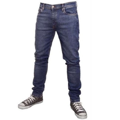Men's Relco Skinny Jeans Stonewash Blue