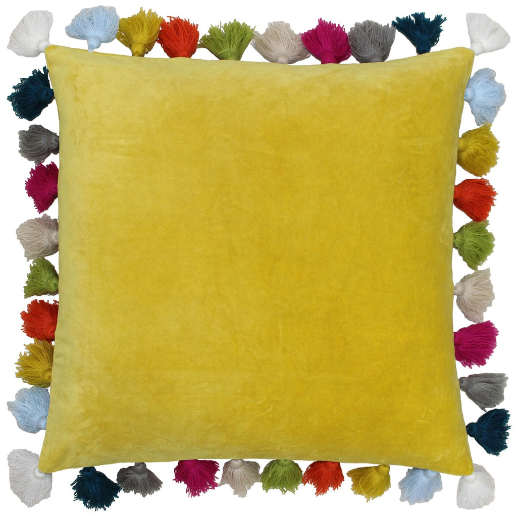 Tassels Cushion - Ochre