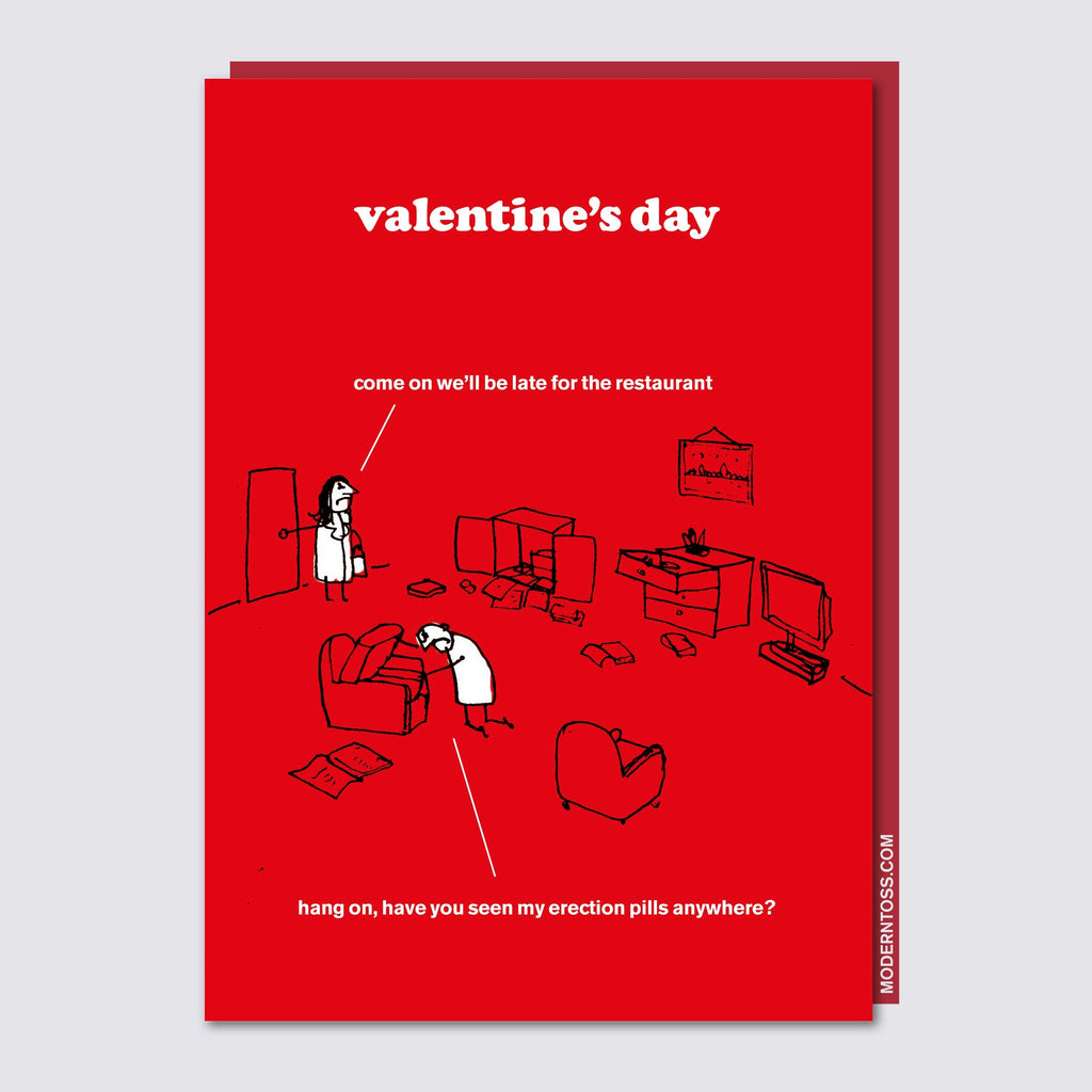 Erection Pills Valentines Card