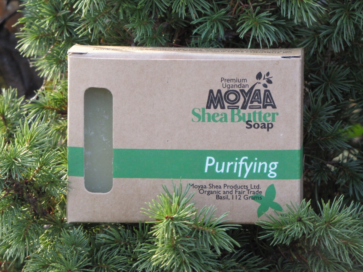 Moyaa Shea Soap - Basil - Purifying - Moyaa Shea Products Ltd