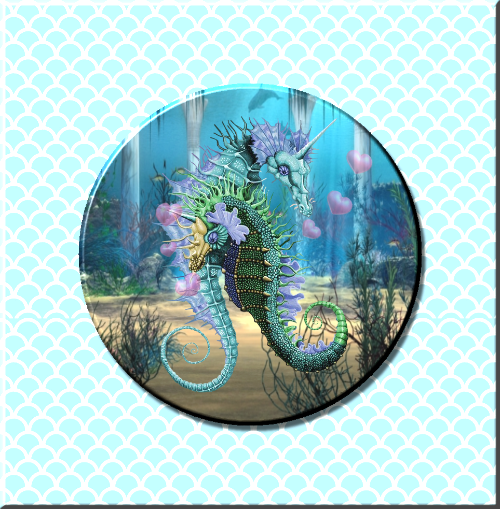 Seahorse Love Magnet or Pin - Granny Kate's