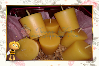 Beeswax Votive Candle pack 6 - Granny Kate's
