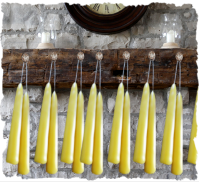 "beeswax 10"" taper candles, natural"