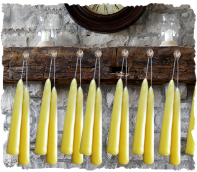 Beeswax Taper Candle 1 Pair 10""