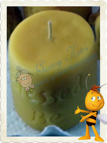 Beeswax Blessed Be Candle - Granny Kate's