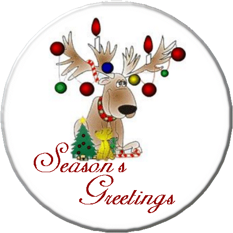 Seasons Greetings Reindeer - Granny Kate's