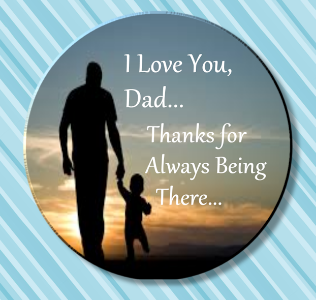 Father's Day Magnet or Pin 2