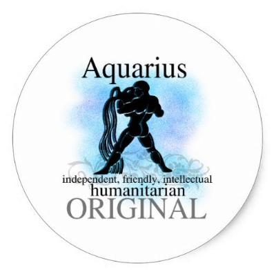 Aquarius Magnet Or Pin - Granny Kate's