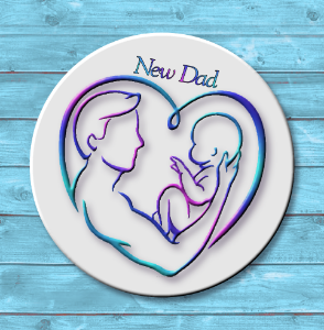 New Dad Magnet or Pin
