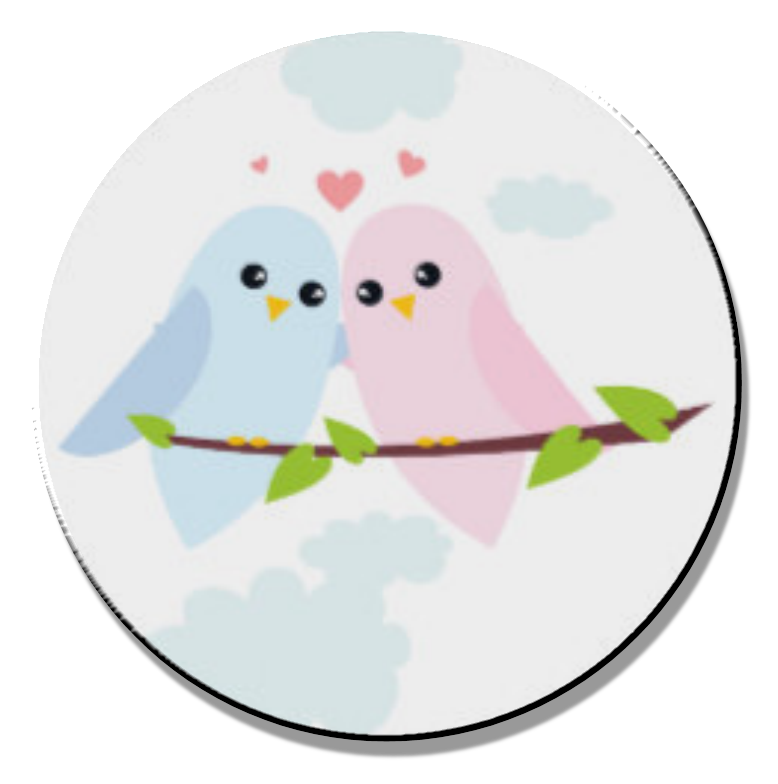 Love Birds Magnet or Pin