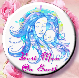Best Mom On Earth Magnet or Pin