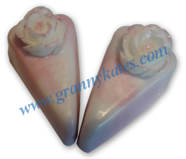 Rasbery Delight Cake Slice Soap - Granny Kate's
