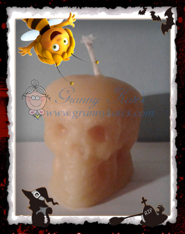 Beeswax Skull Candle - Granny Kate's