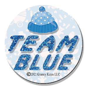Team Pink or Blue Magnet or Pin