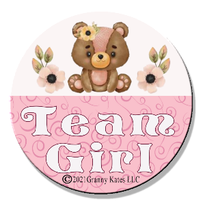 Team Boy or Girl Magnet or Pin