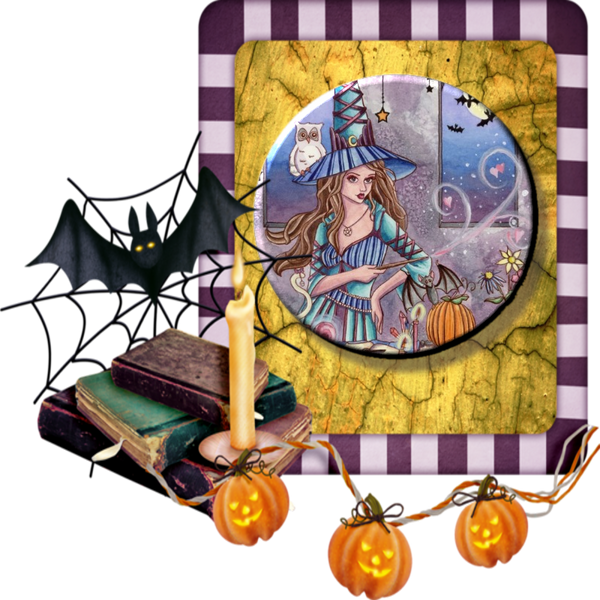 Witch With Owl - Granny Kate's