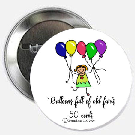 Balloons Filled With Farts Magnet or Pin
