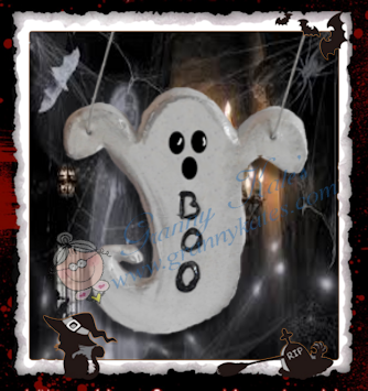 Boo Ghost Ornament - Granny Kate's