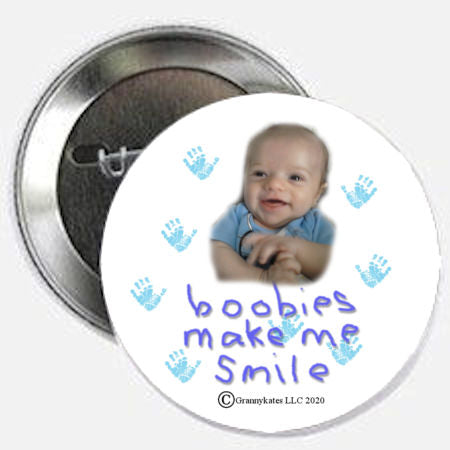 Boobies Make Me Smile Magnet or Pin