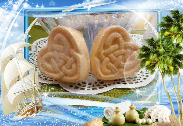 Fizzy Butter Bath Bomb Celtic Heart - Granny Kate's