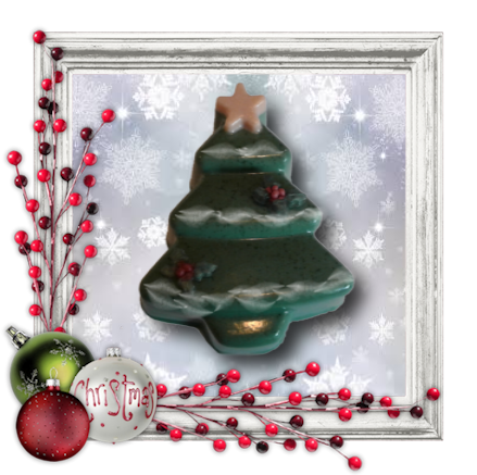 Christmas Tree With Star Soap - Granny Kate's