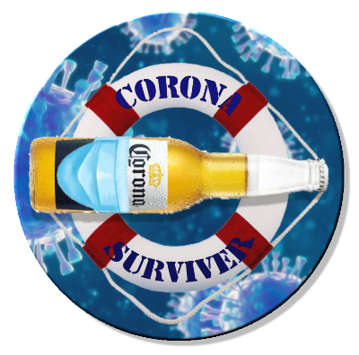 Corona Survivor 01 Magnet or Pin