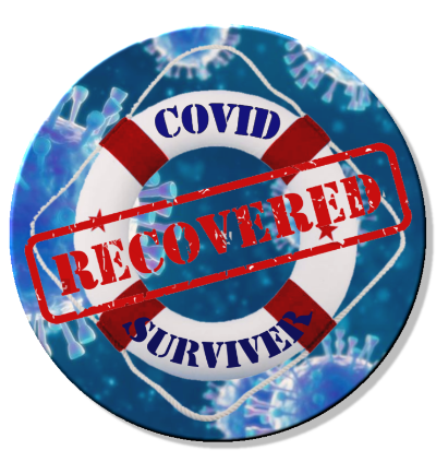COVID Survivor 01 Magnet or Pin