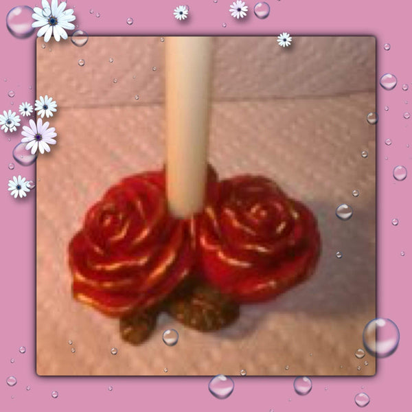Double Rose Candleholder - Granny Kate's