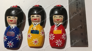 Japanese Girl Resin Magnet
