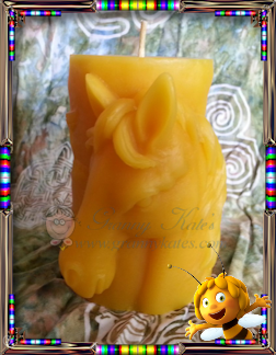 Beeswax Horse Pillar Candle - Granny Kate's