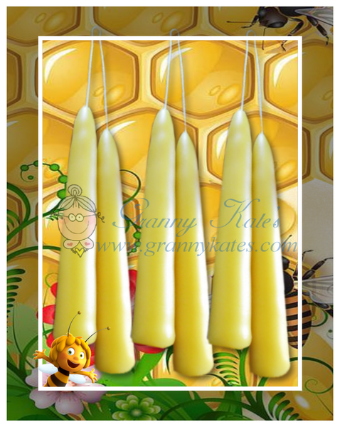 "4"" Beeswax Chime Candles - Granny Kate's"