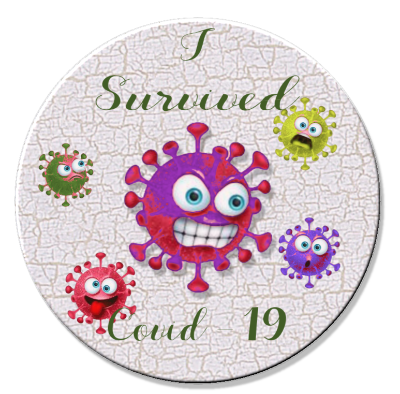 I Survived COVID-19 01 Magnet or Pin